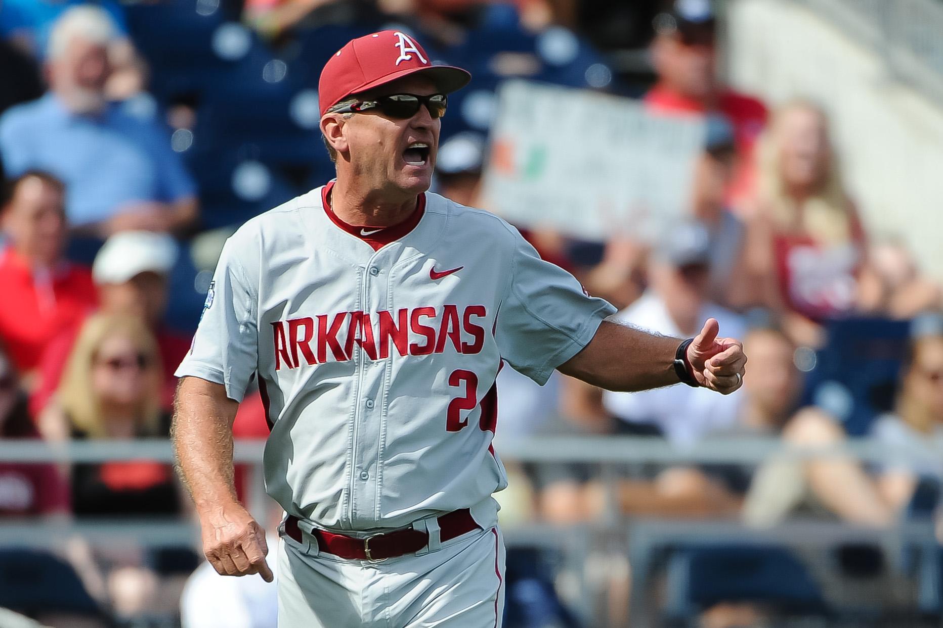 NCAA Baseball: College World Series-Arkansas vs Miami