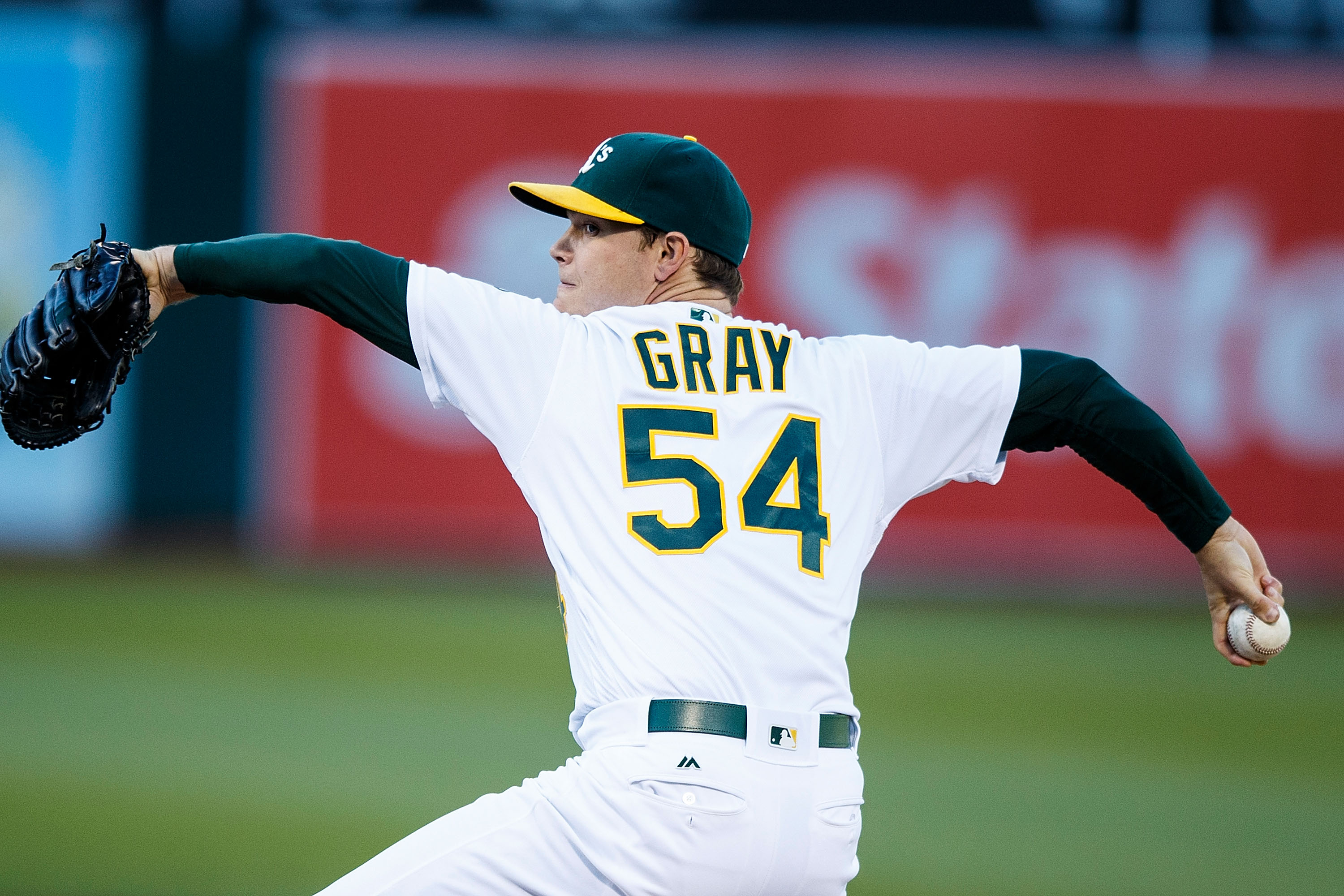 Pictured: Artist's rendering of Bukauskas in A's jersey.