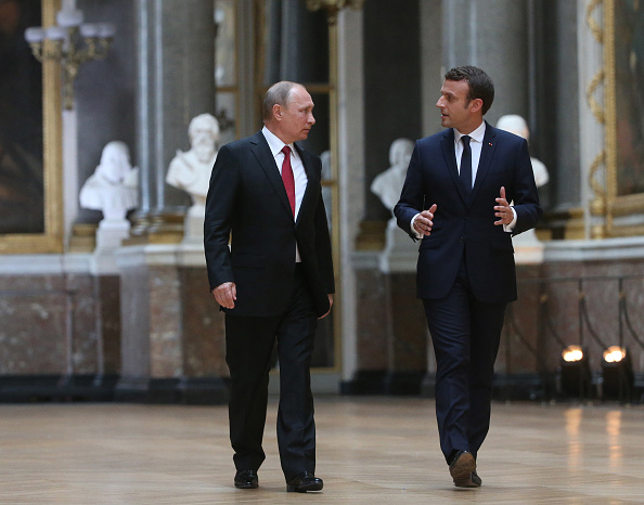 French President Emmanuel Macron just went after Russia — to Putin's face