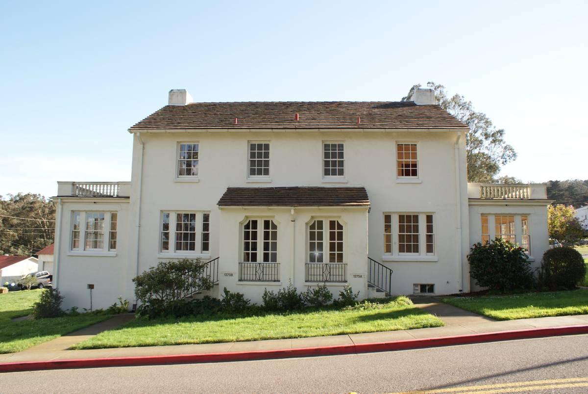 A historic duplex in the Presidio.
