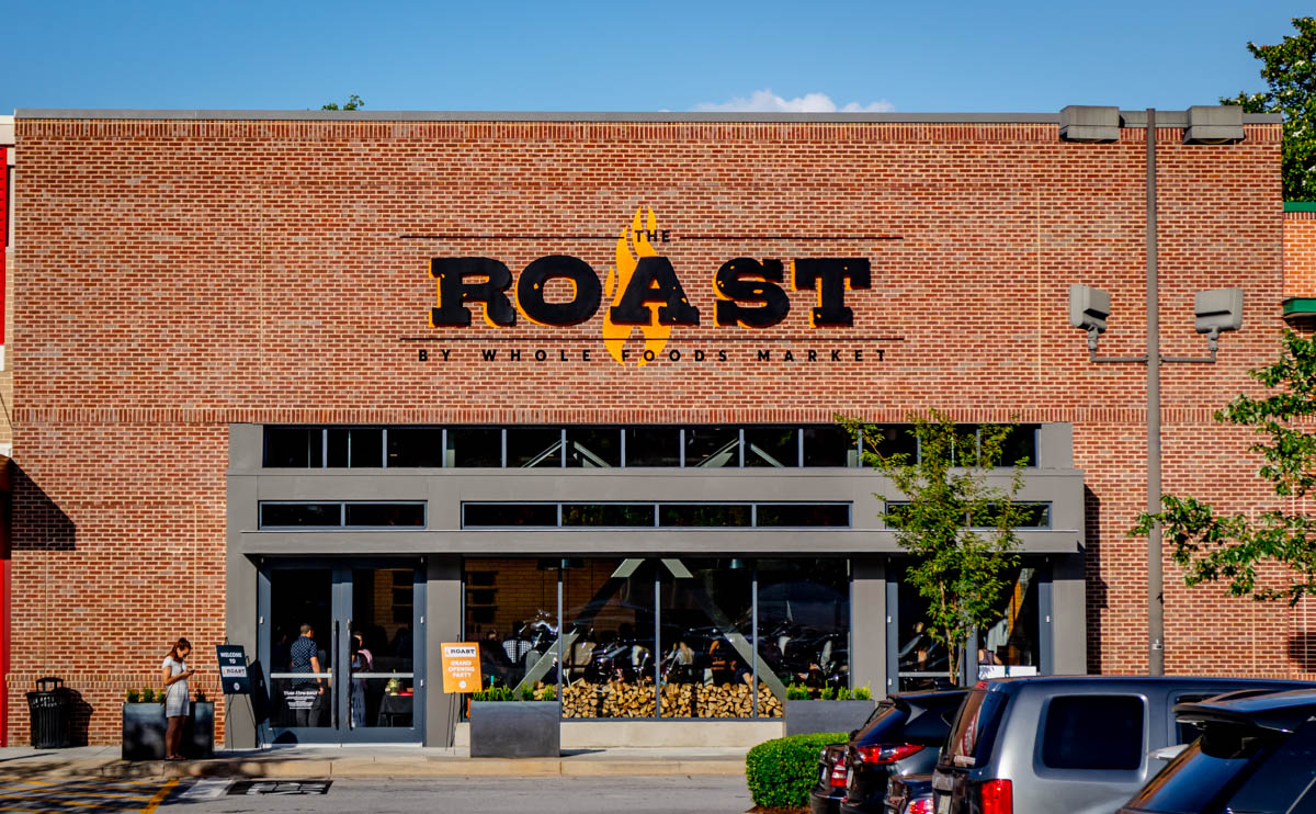 Exterior shot of The Roast.