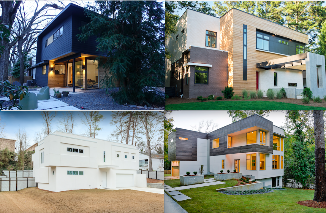 An array of modern residential architecture in Atlanta.