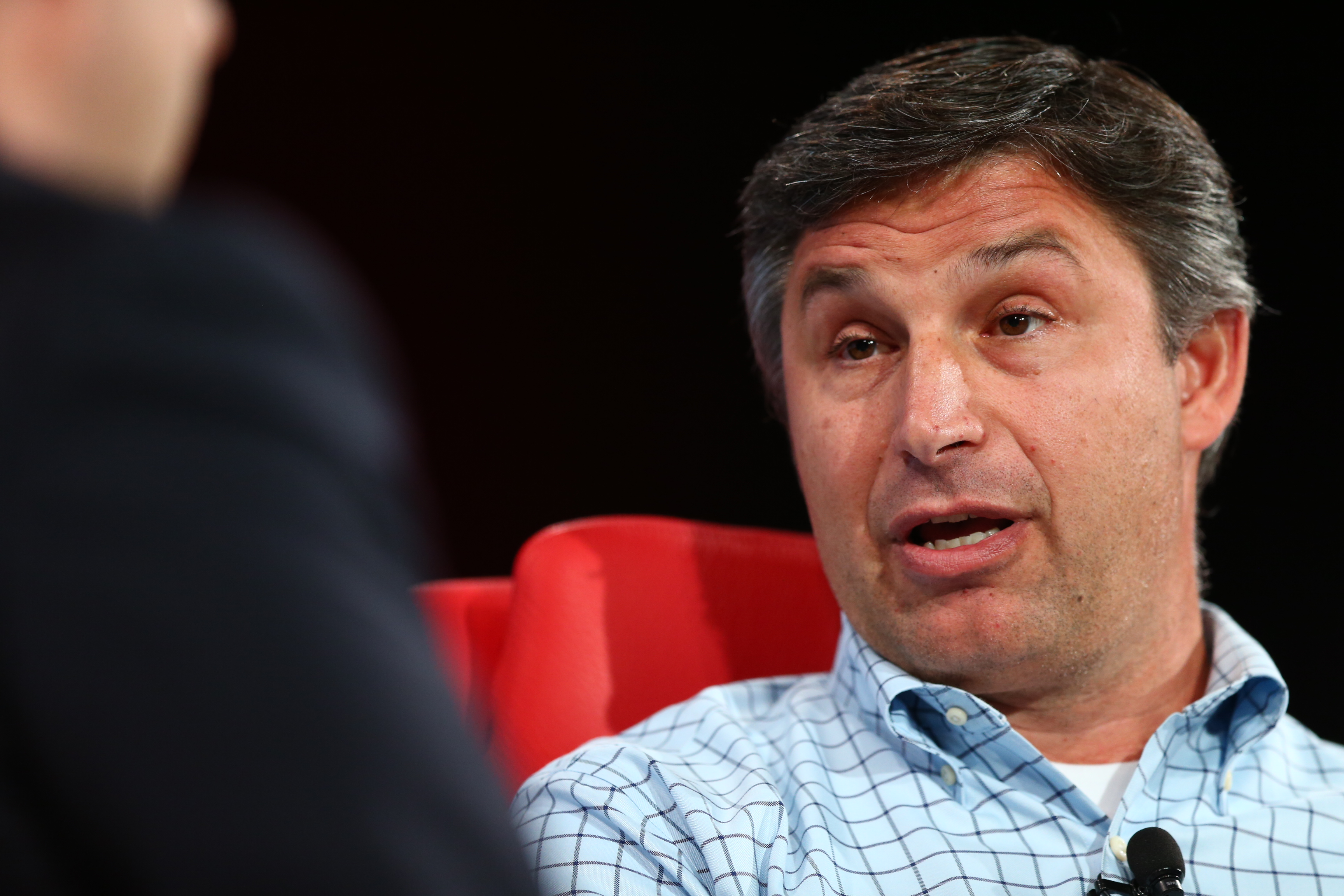 Anthony Noto onstage at the Code Conference