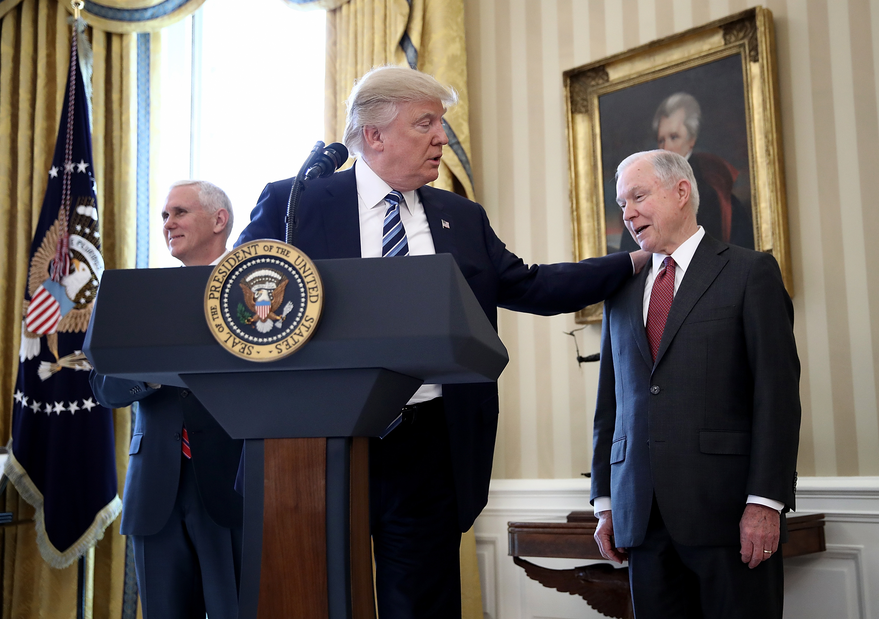 The Trump White House is really hanging Jeff Sessions out to dry