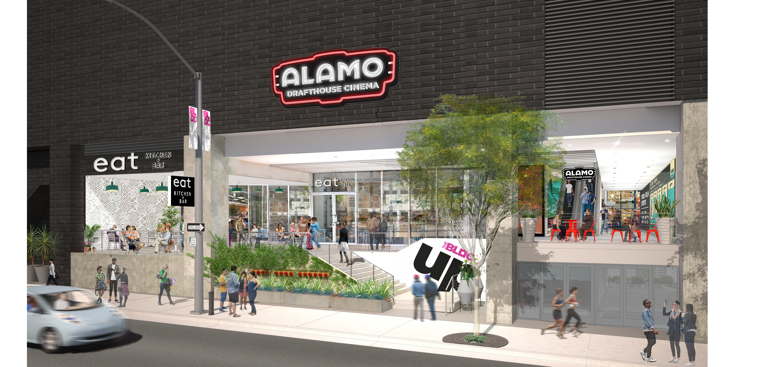 View of Alamo Drafthouse from Flower Street
