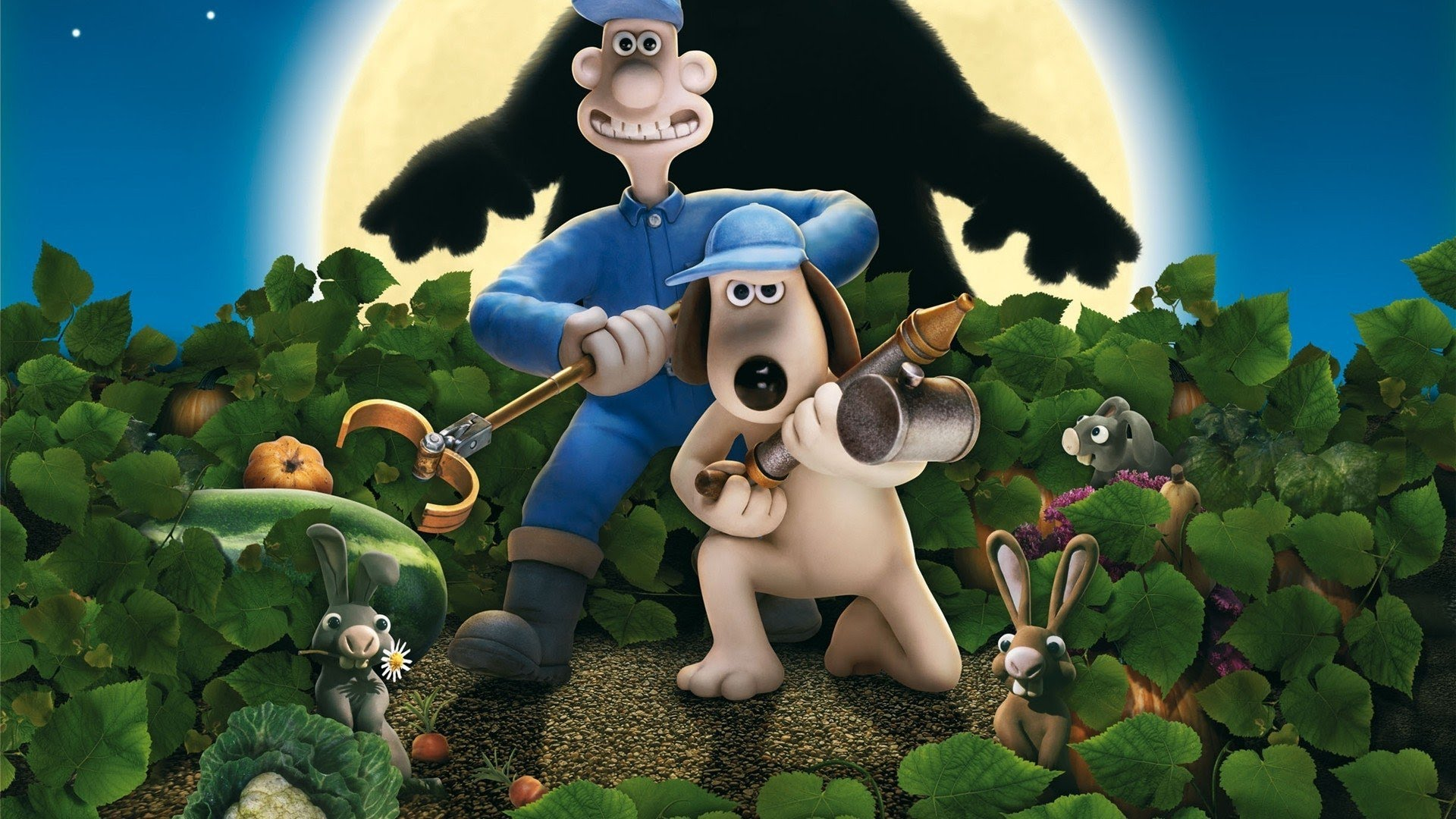 Wallace and Gromit in The Curse of the Were-Rabbit.