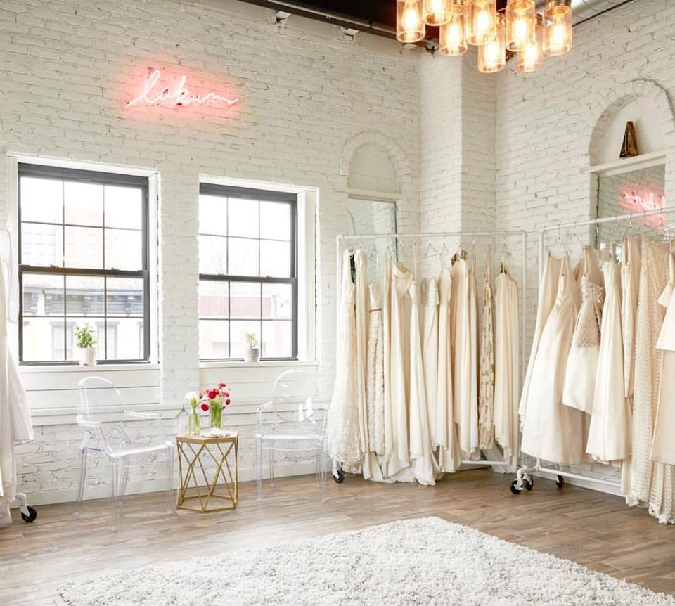 A bridal boutique