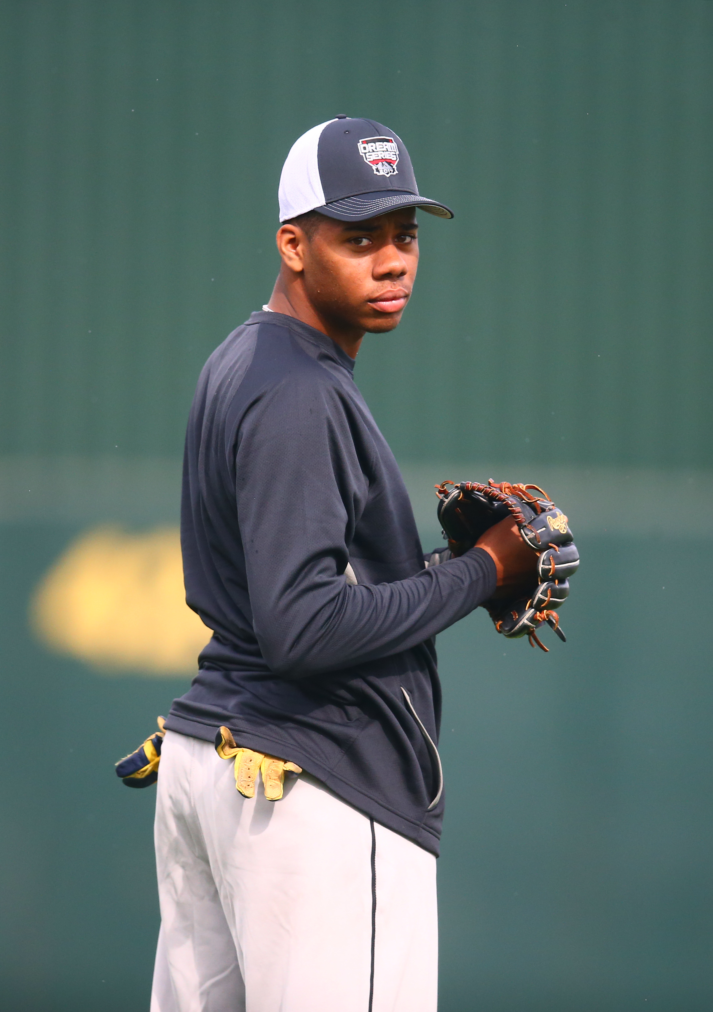 Right-handed pitcher/shortstop Hunter Greene is believed to be the top prospect available in this year's draft
