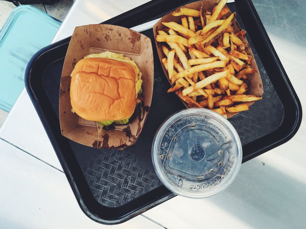 Burger and fries from Symon's Burger Joint