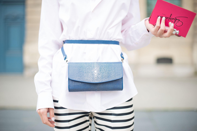 Woman wearing fanny pack