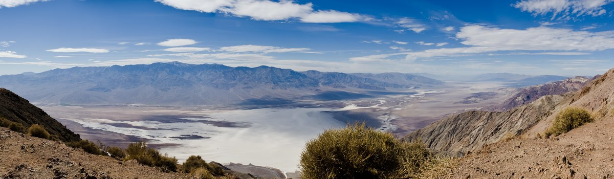 A photo of Death Valley at dawn