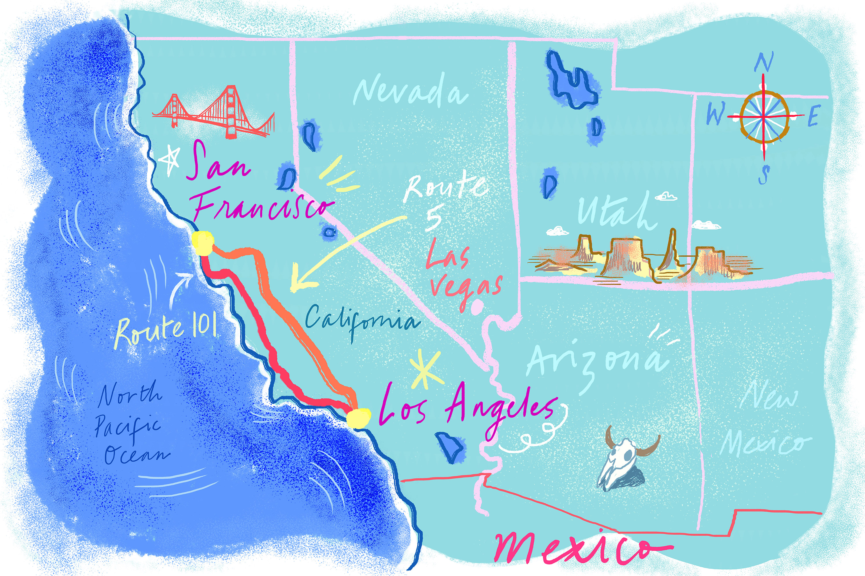 Where to Eat Along the PCH and I-5 Between SF and LA