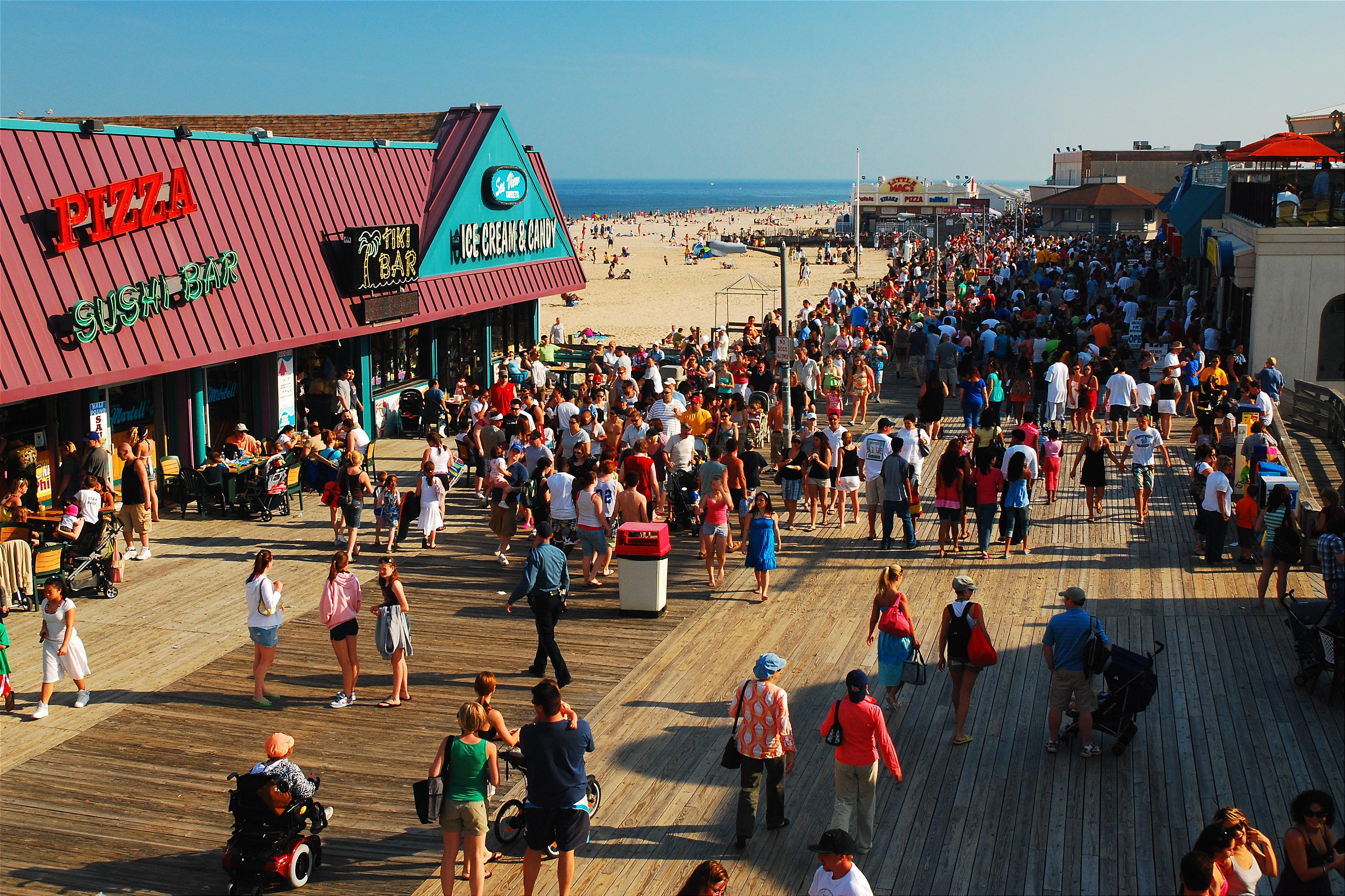 The Point Pleasant boardwalk