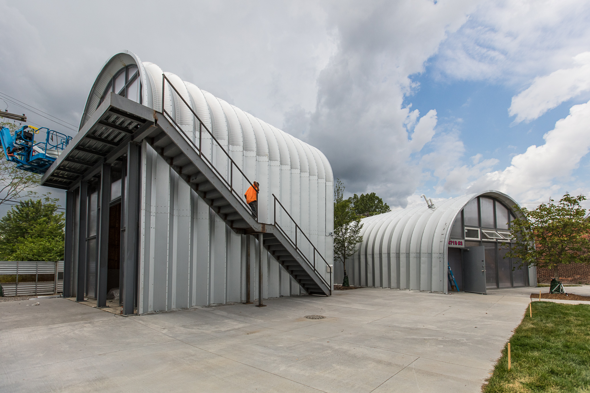 Detroit homes neighborhoods architecture and real for Quonset hut