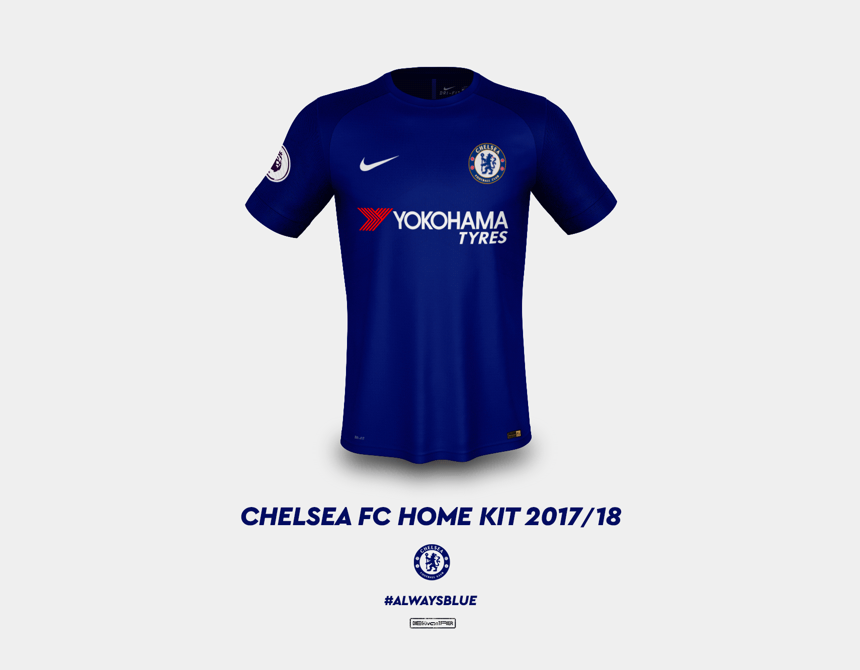 The best mock-ups of Chelsea s new 2017-18 Nike kits. Home ... 697fa25df