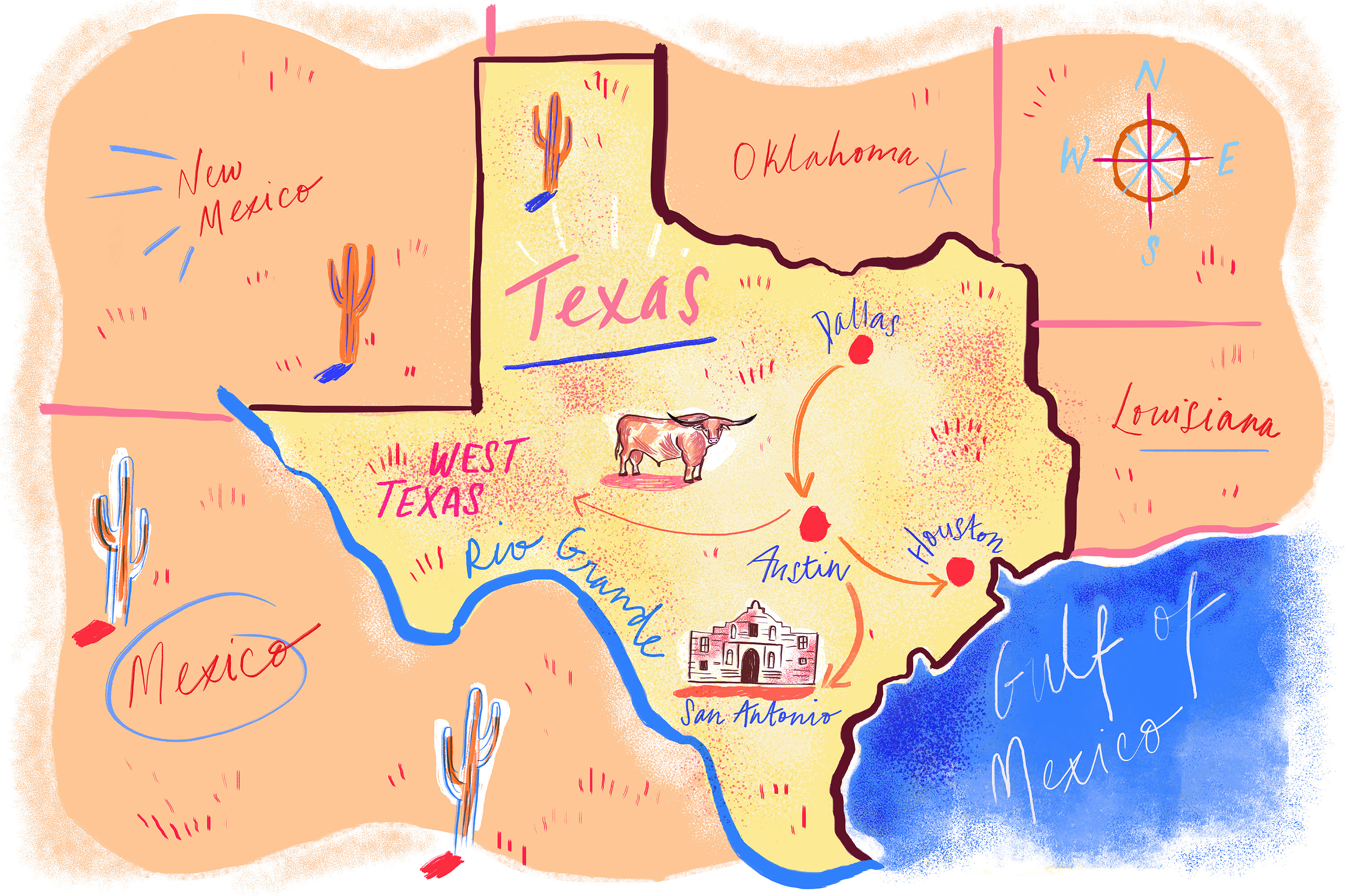 A Comprehensive Guide to Road Tripping Through Texas - Eater