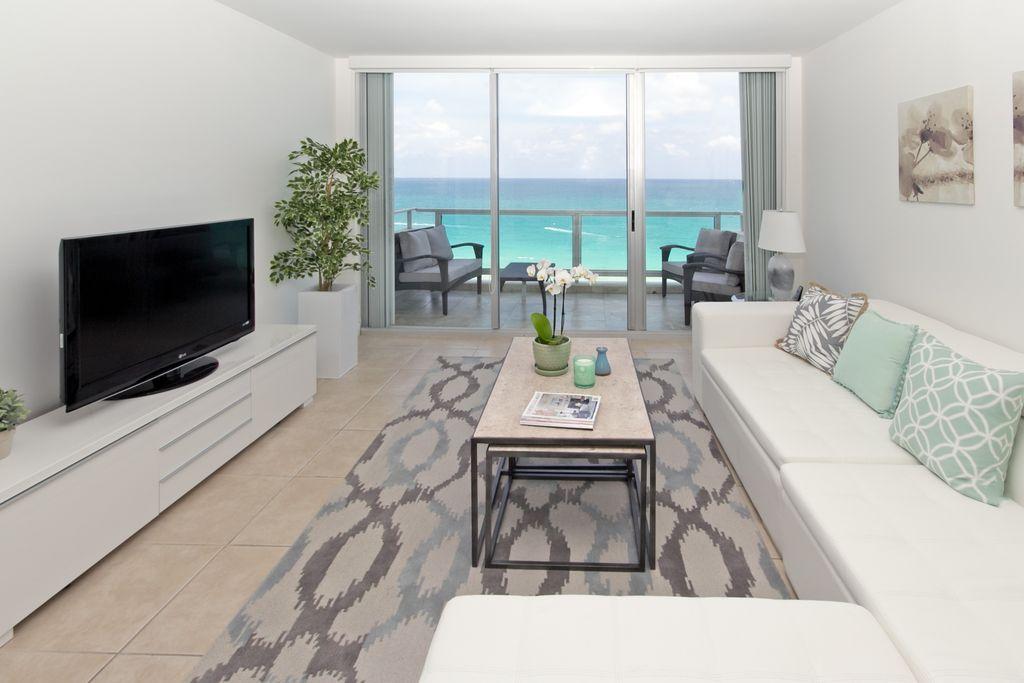 An ocean-facing unit at 5155 Collins Avenue in Miami Beach