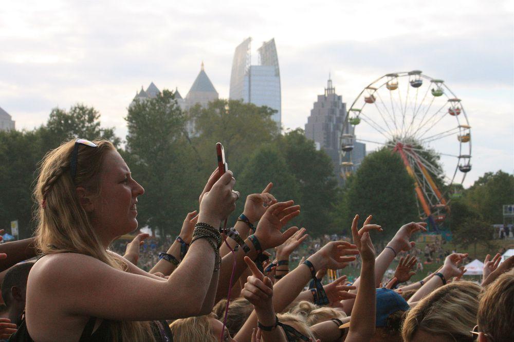 Revelers at Music Midtown 2016 in Atlanta's Piedmont Park.