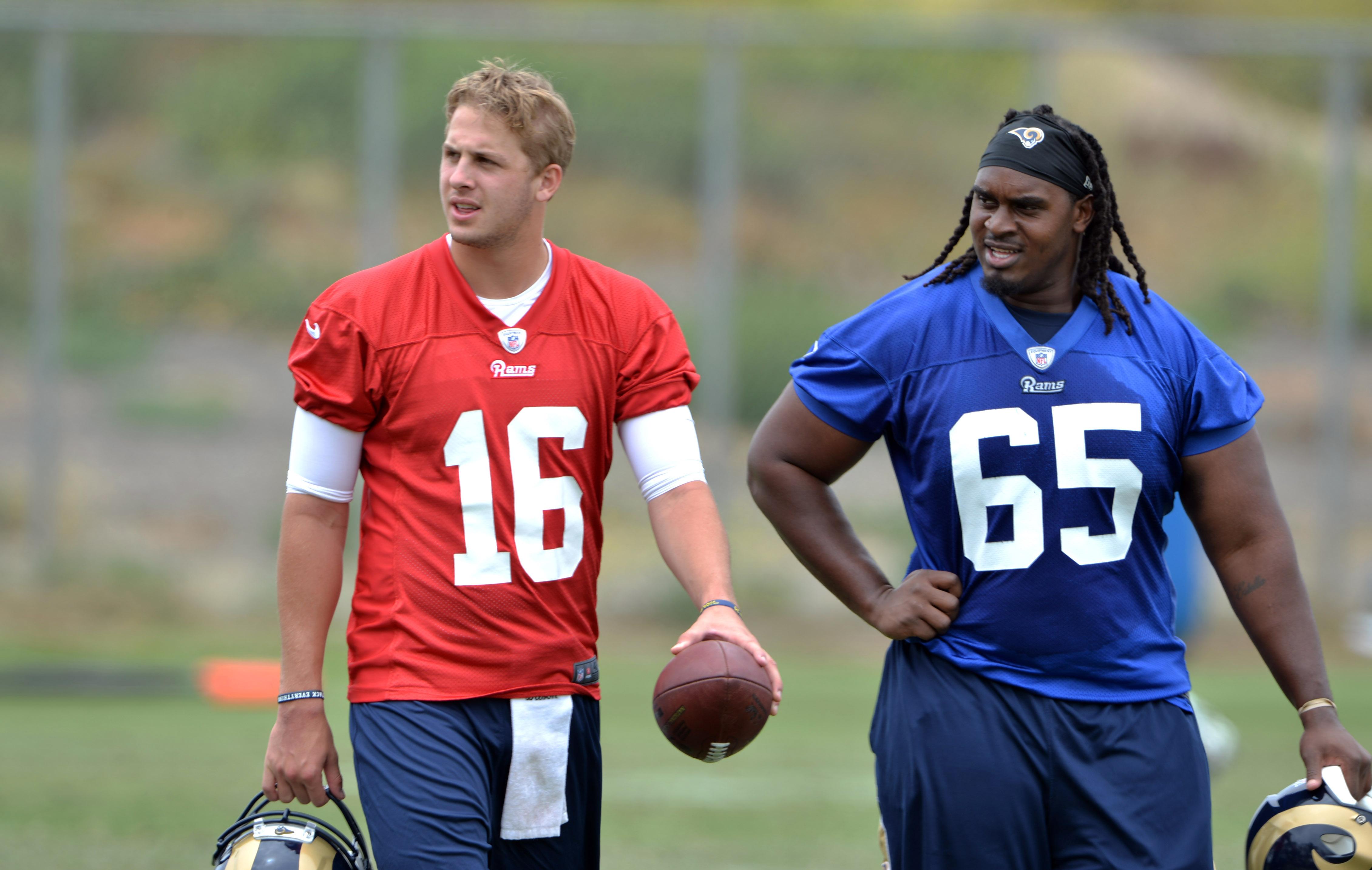 Los Angeles Rams QB Jared Goff & C Demetrius Rhaney