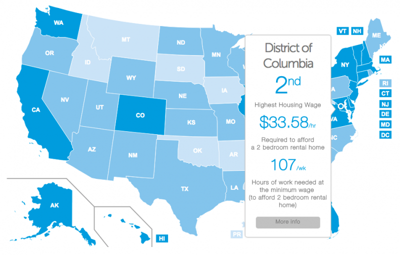 The Wages You Need To Afford Rent In Every D C Neighborhood Mapped