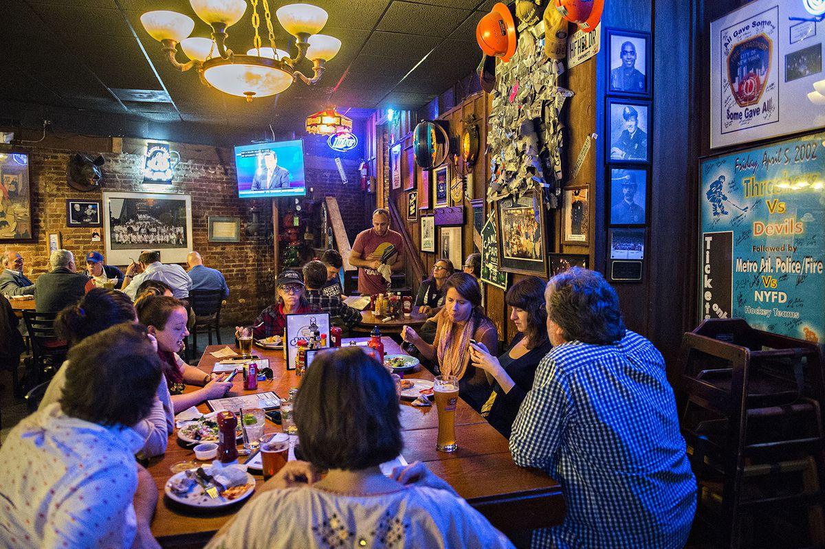 Inside Manuel's Tavern.