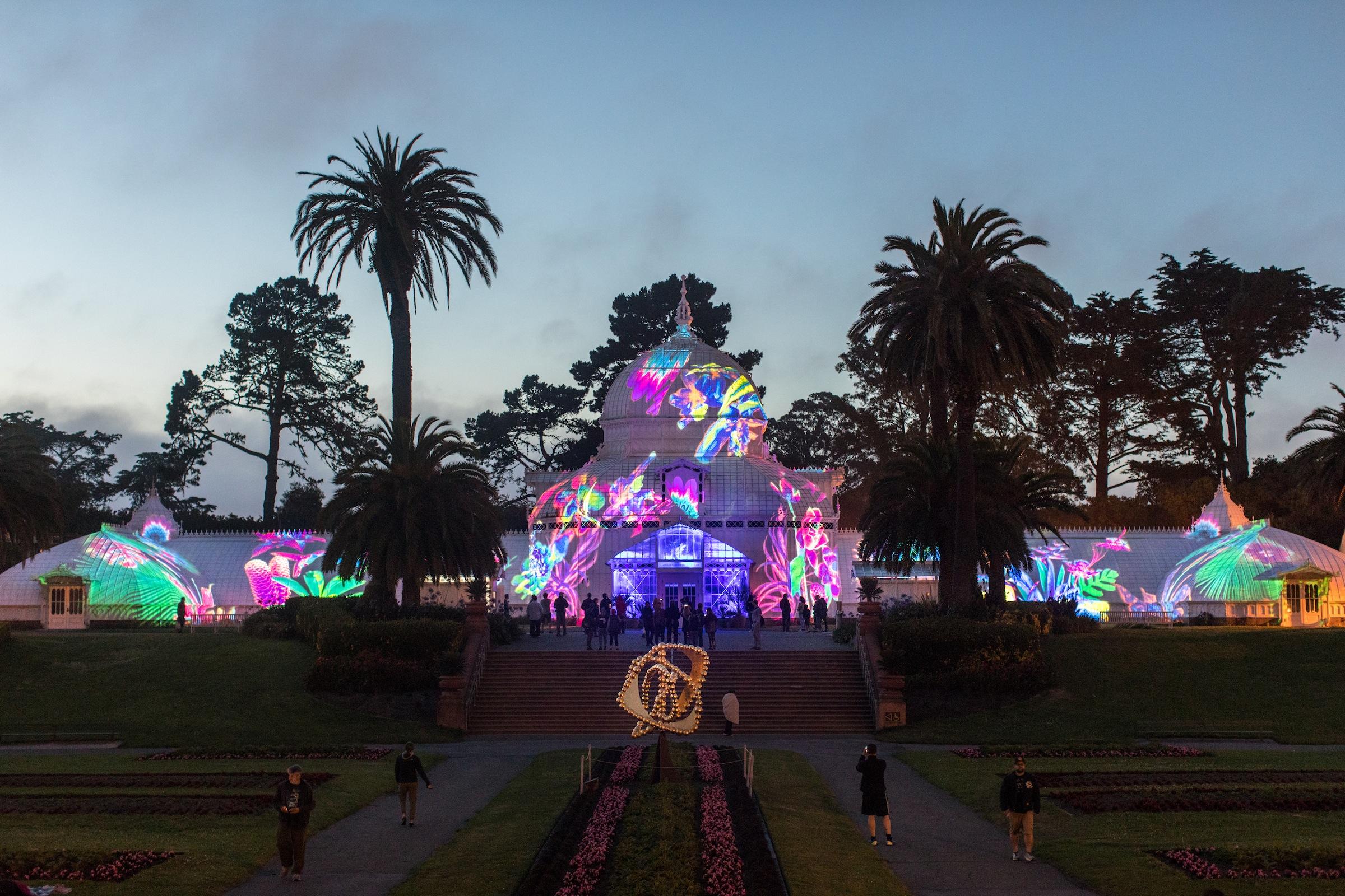 Conservatory of Flowers 'Summer of Love' light show extends into autumn (update)