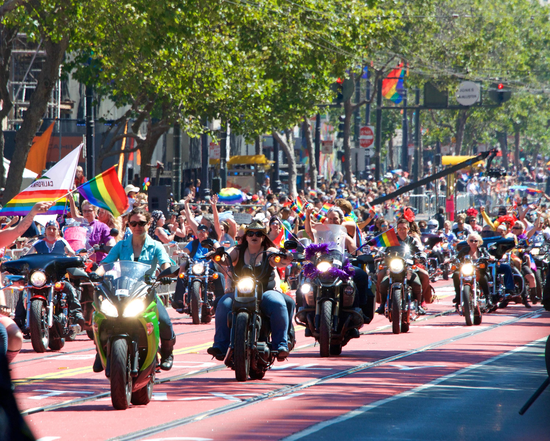 Participants at the San Francisco Gay Pride Parade.