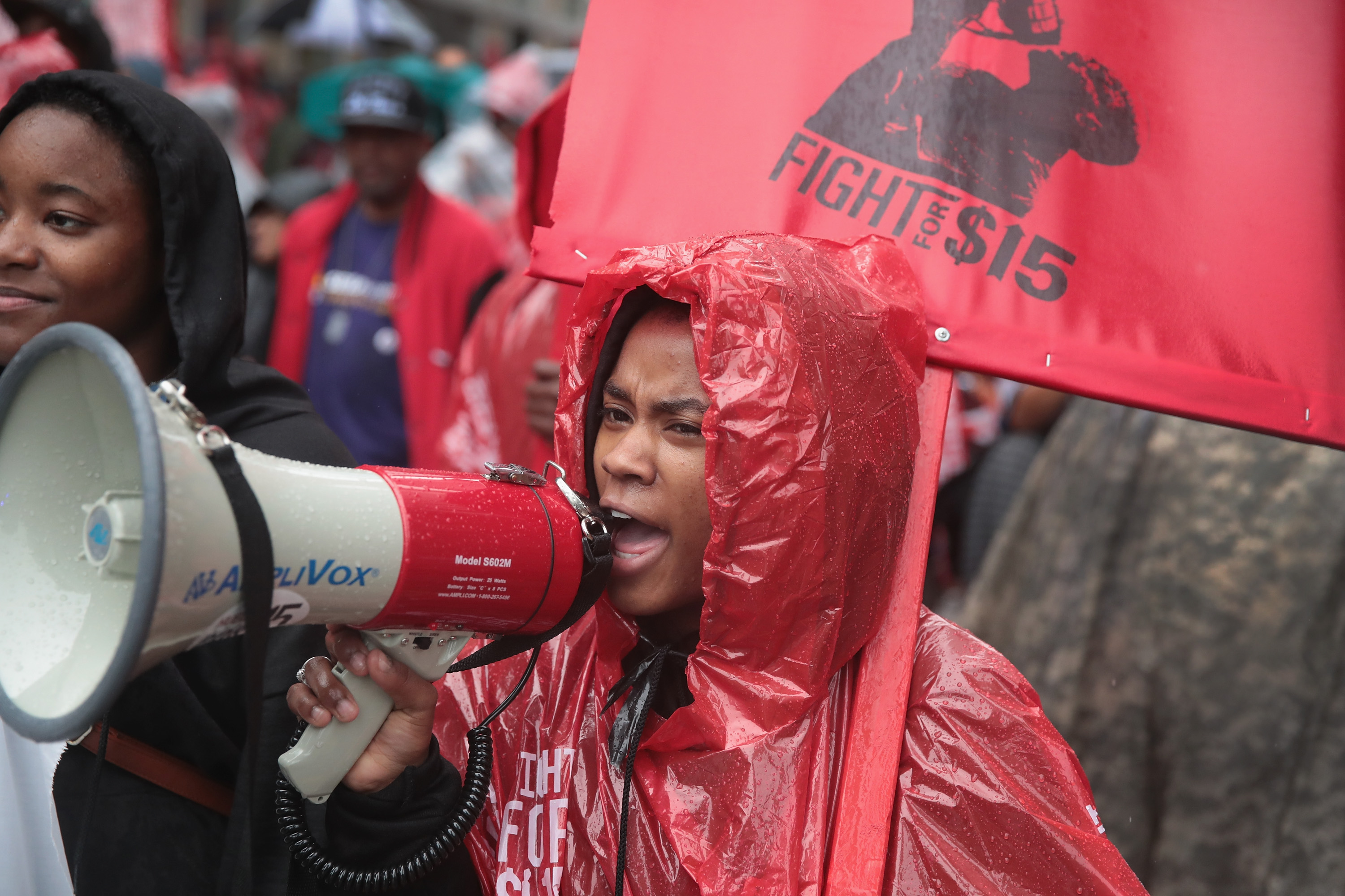 Activists Hold A 'March To McDonald's' To Push For $15 Wage In Chicago