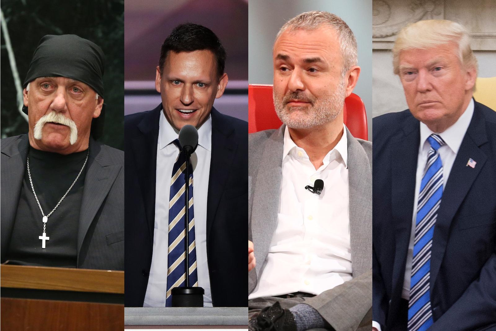 Hulk Hogan, Peter Thiel, Nick Denton and Donald Trump