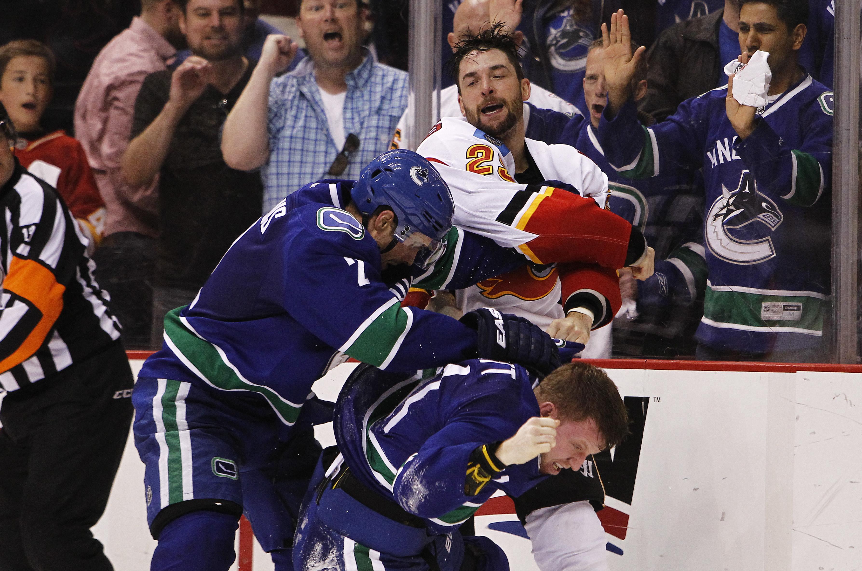 Calgary Flames v Vancouver Canucks - Game Two