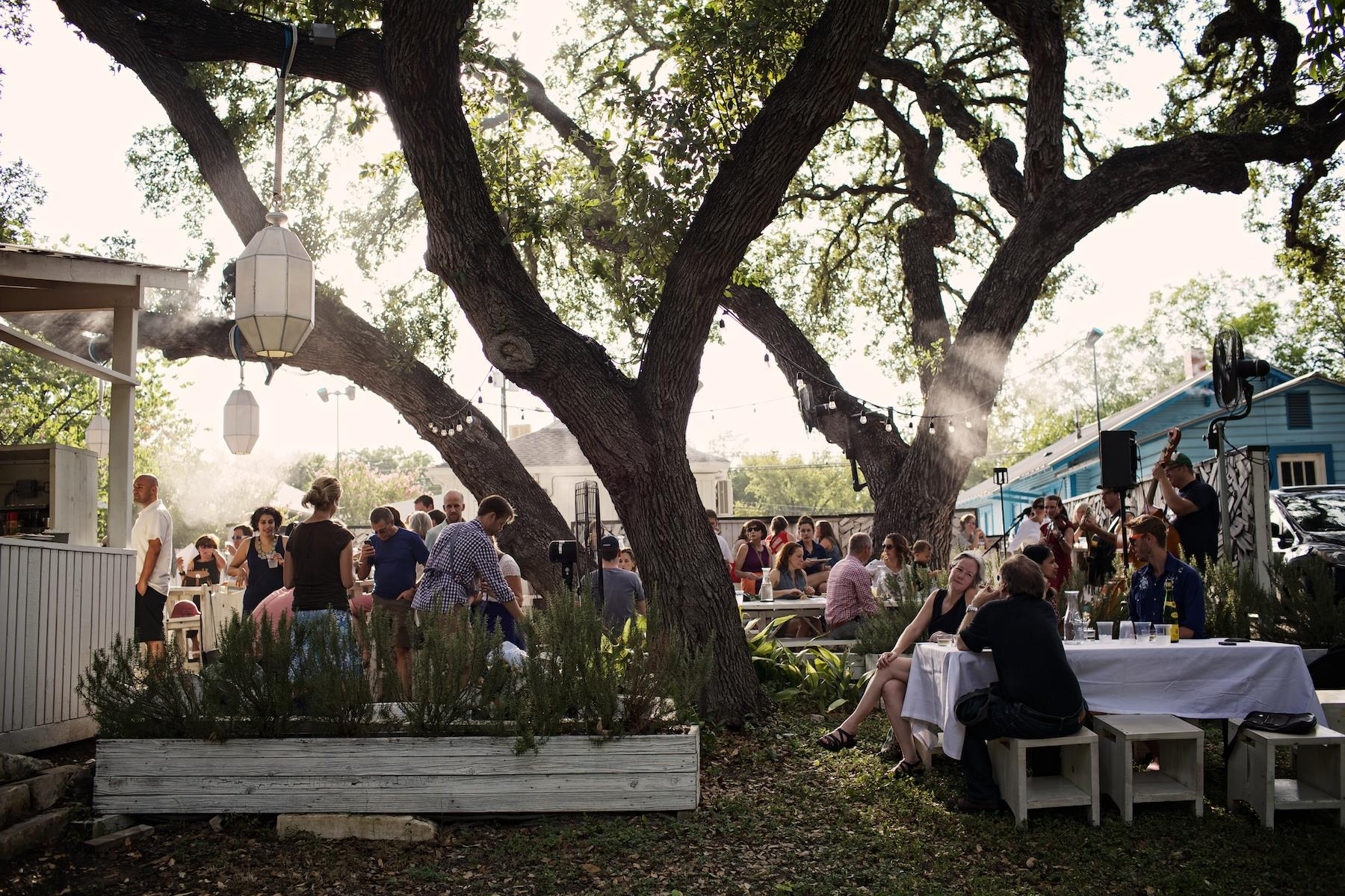Lenoir's wine garden