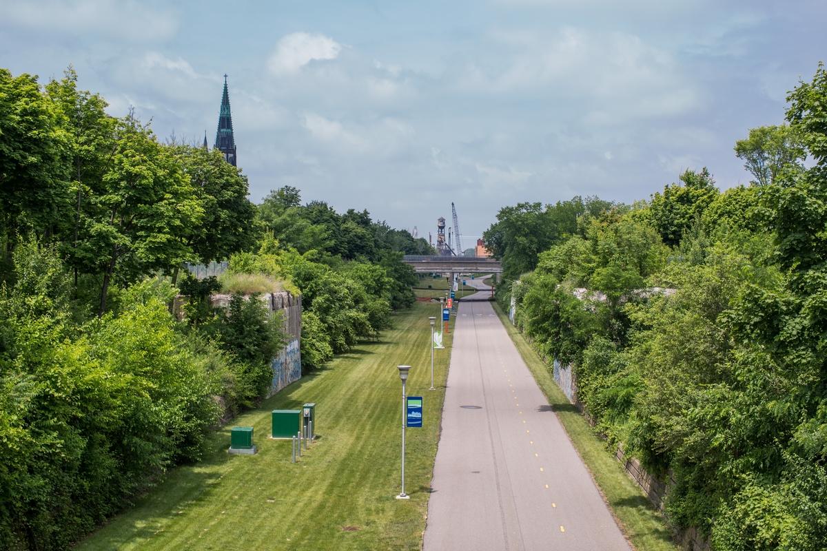Dequindre Cut Bike Path After