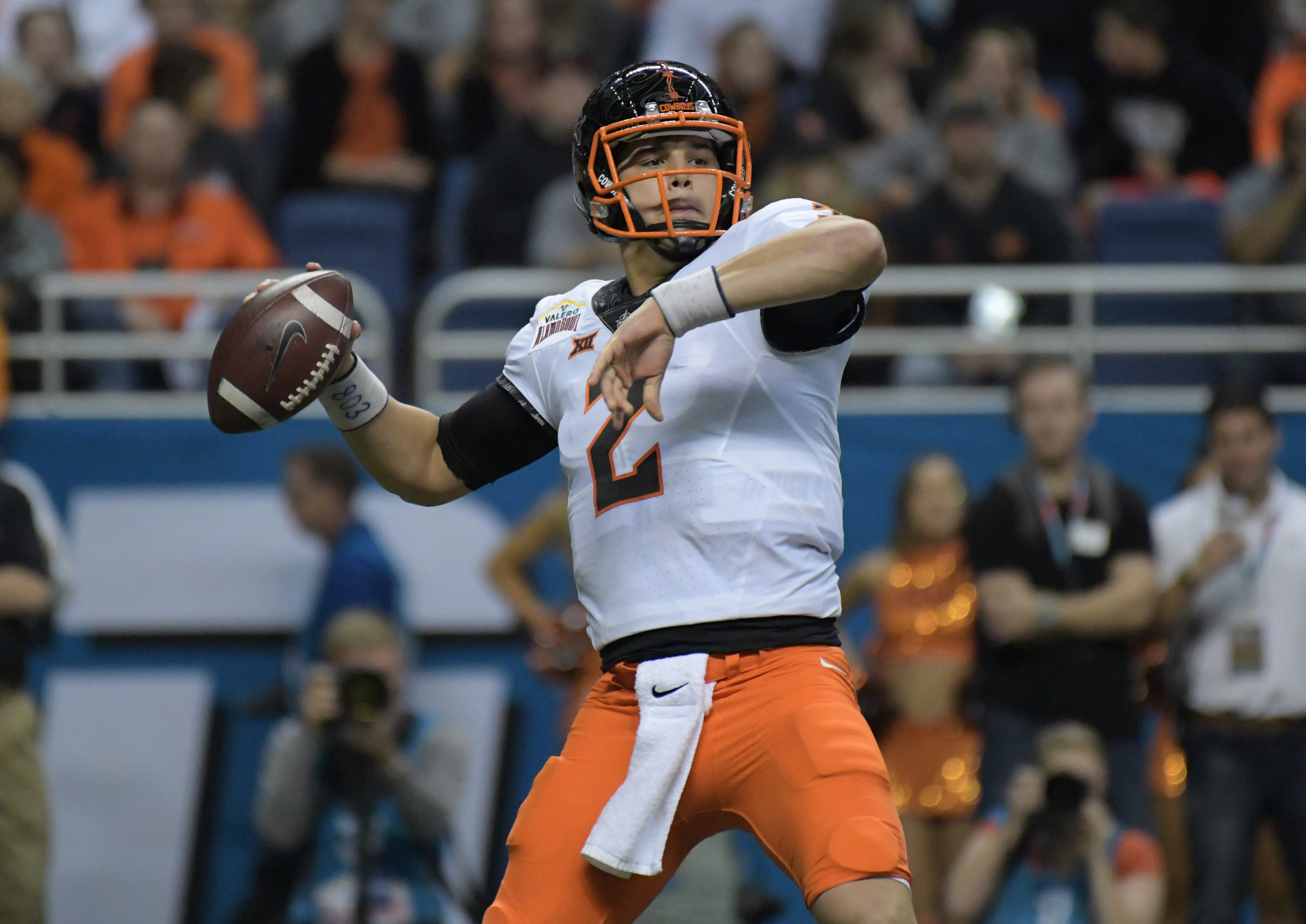 promo code 8ff92 24f8a Mason Rudolph helps out at Manning Passing Academy - Cowboys ...