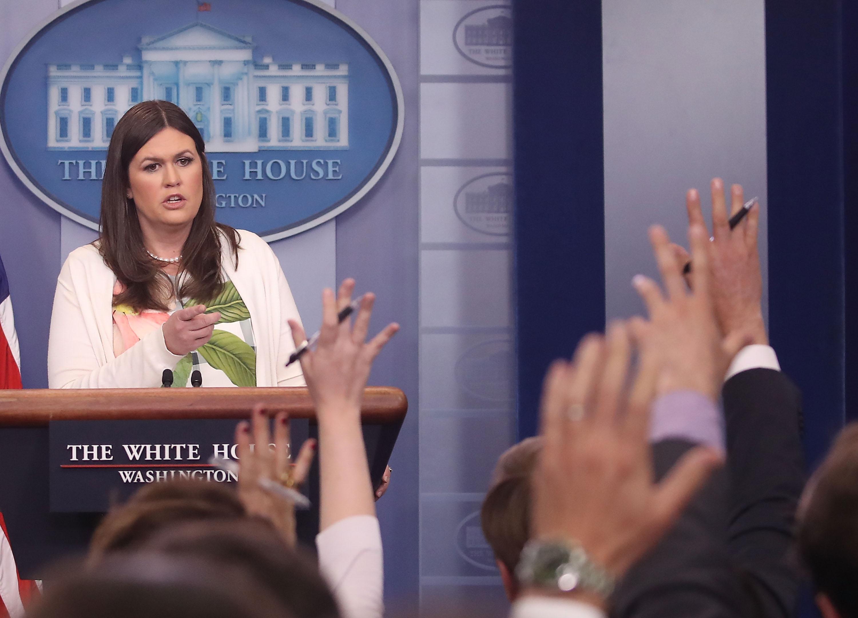 Deputy Press Secretary Sarah Sanders Holds Daily White House Press Briefing