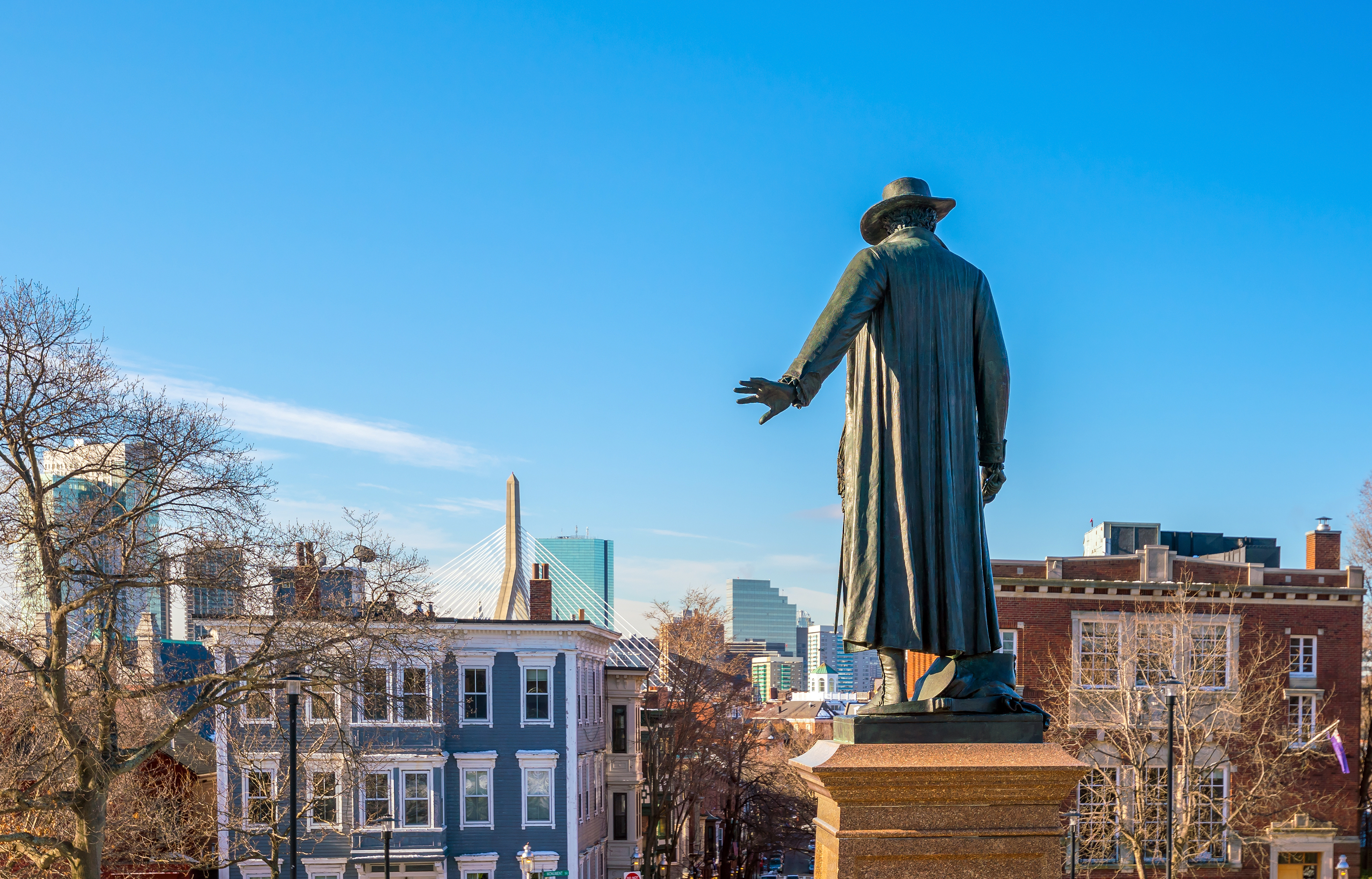 12 key Revolutionary War monuments in the Boston area, mapped