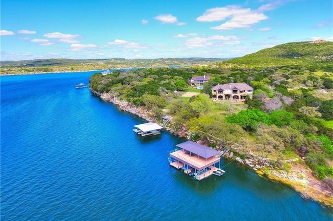 Large lakeside estate with dock