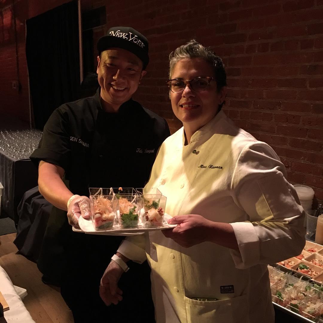 Chefs Mina Newman and Taku Nagai