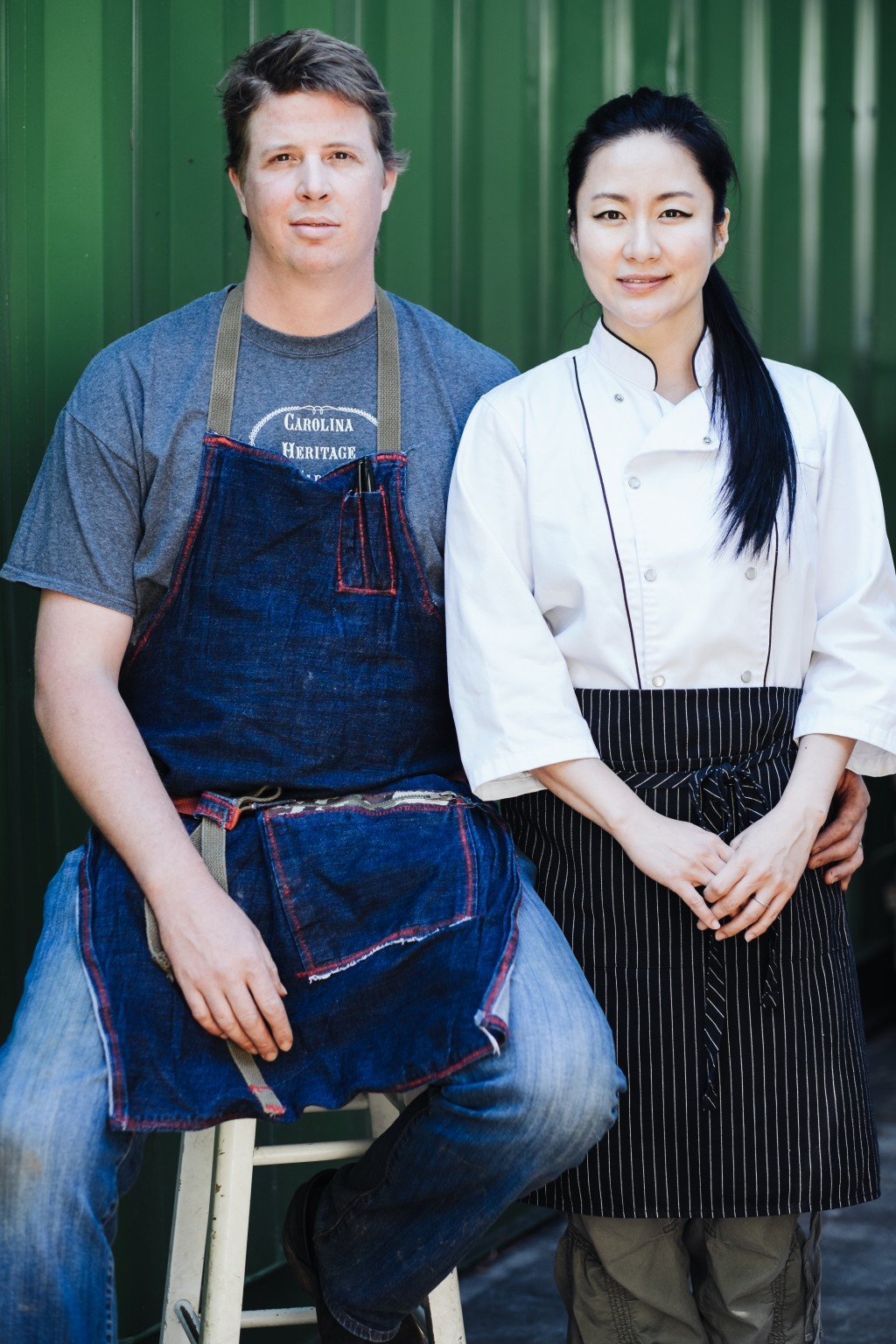 Chefs Cody Taylor and Jiyeon Lee