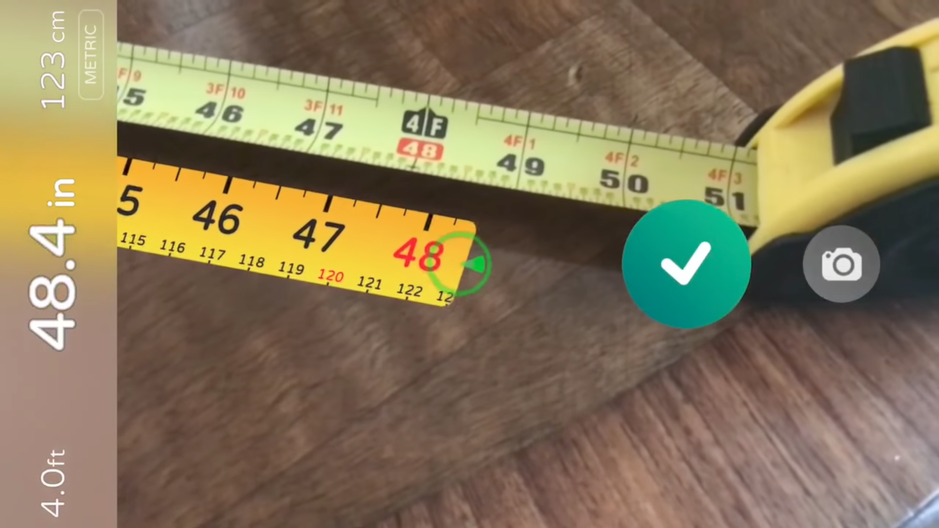 AR Measure turns your phone into a virtual measuring tape