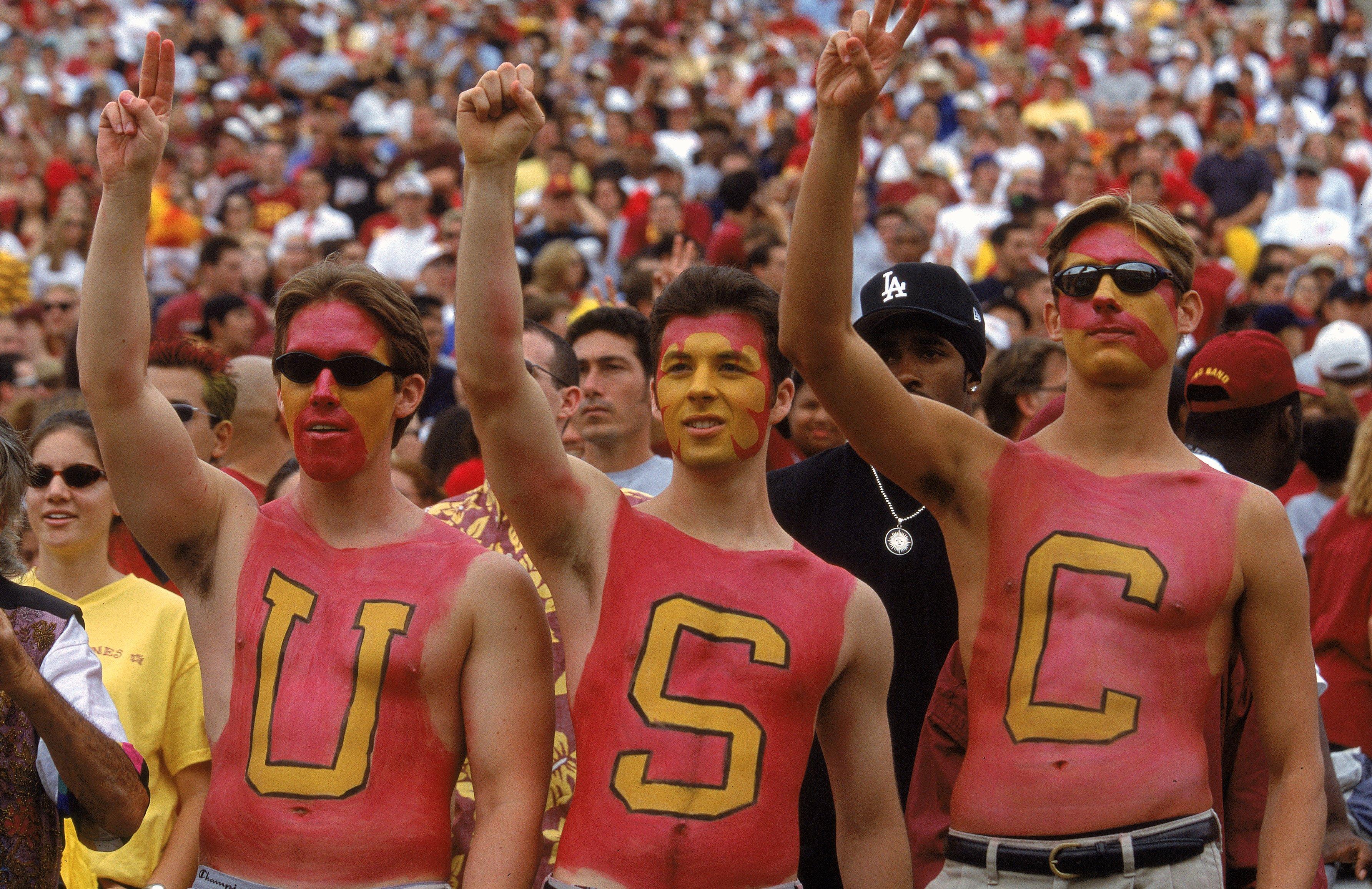 Trojan college fans