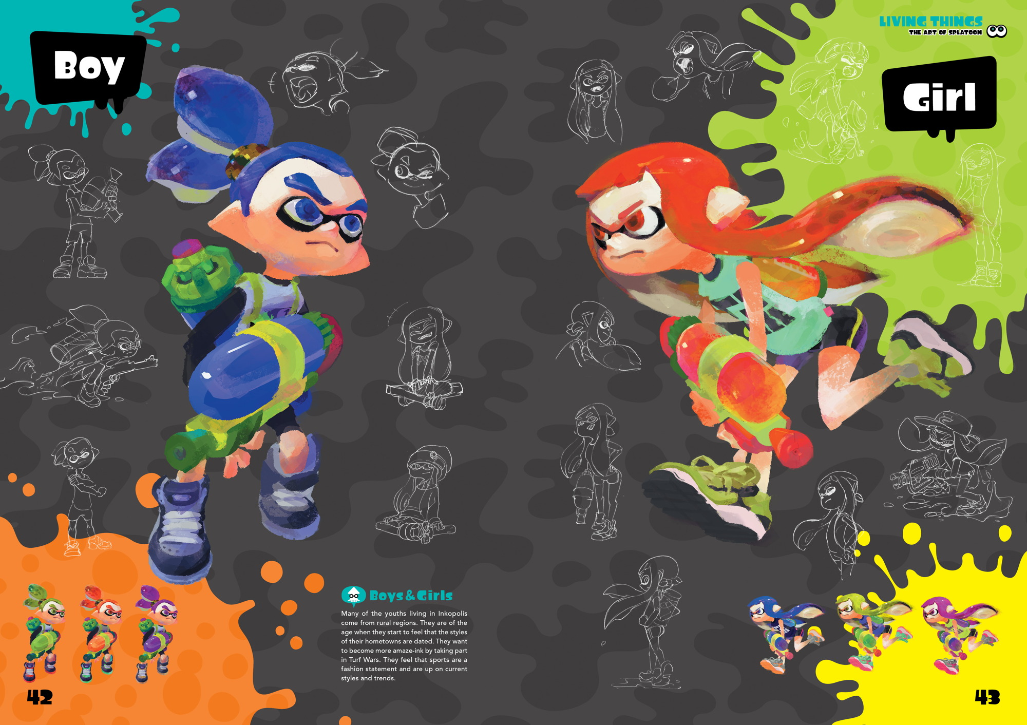 Splatoon's art book is filled with concept art, comics and