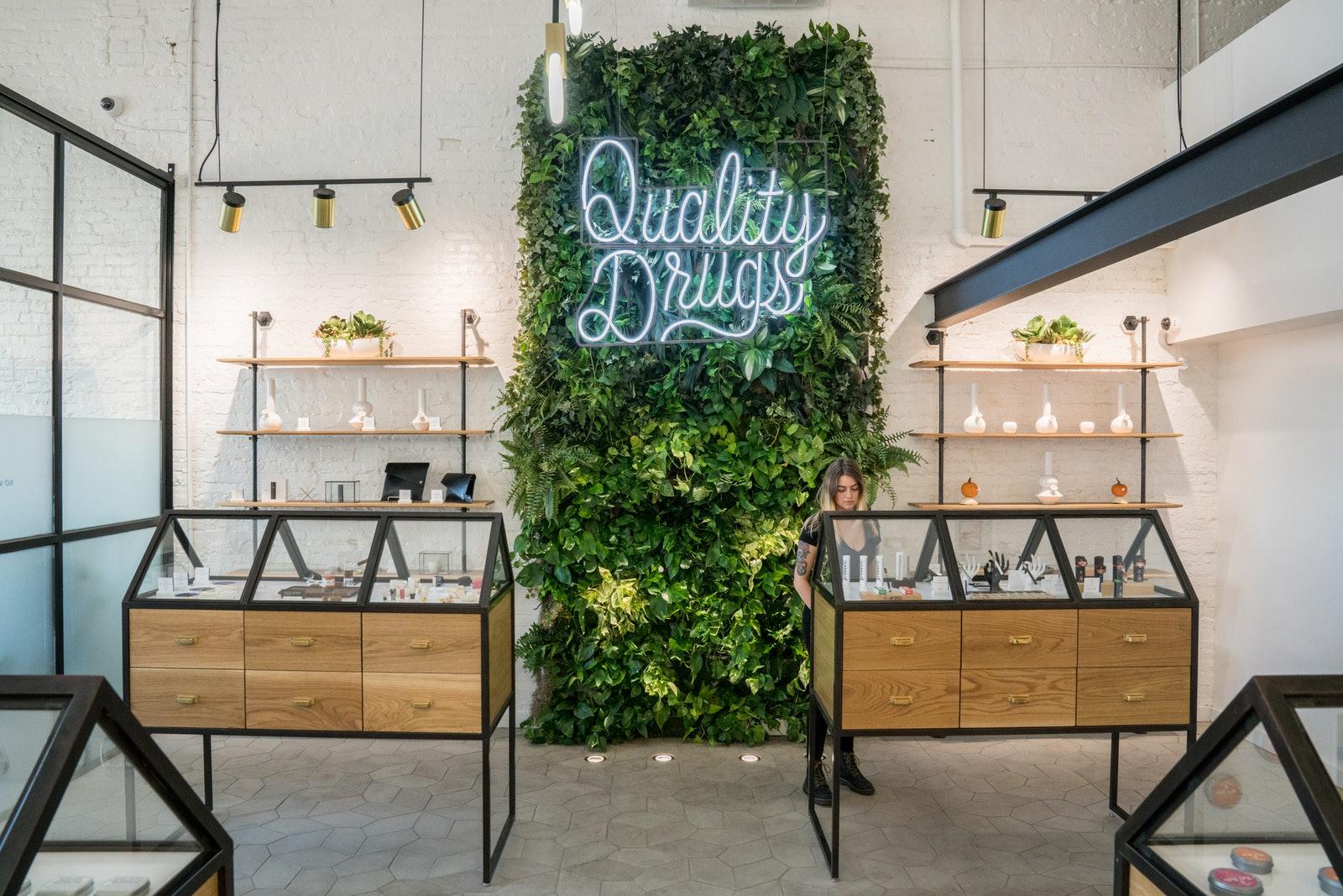 minimalist cannabis dispensary