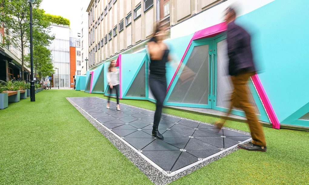 London's 'smart street' turns footsteps into energy