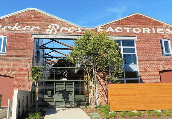 Exterior of Barker Block warehouse building