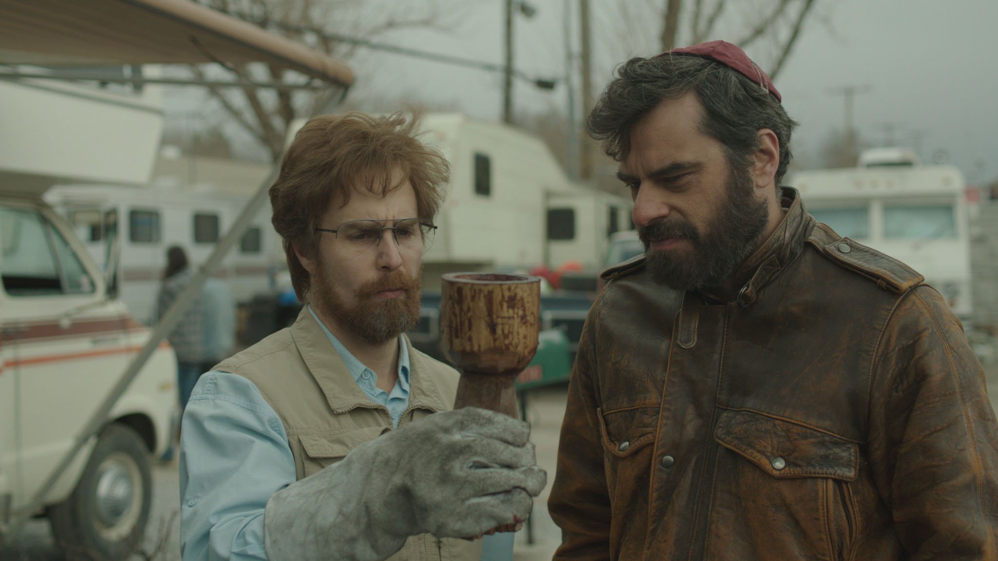 Sam Rockwell and Jemaine Clement in Don Verdean