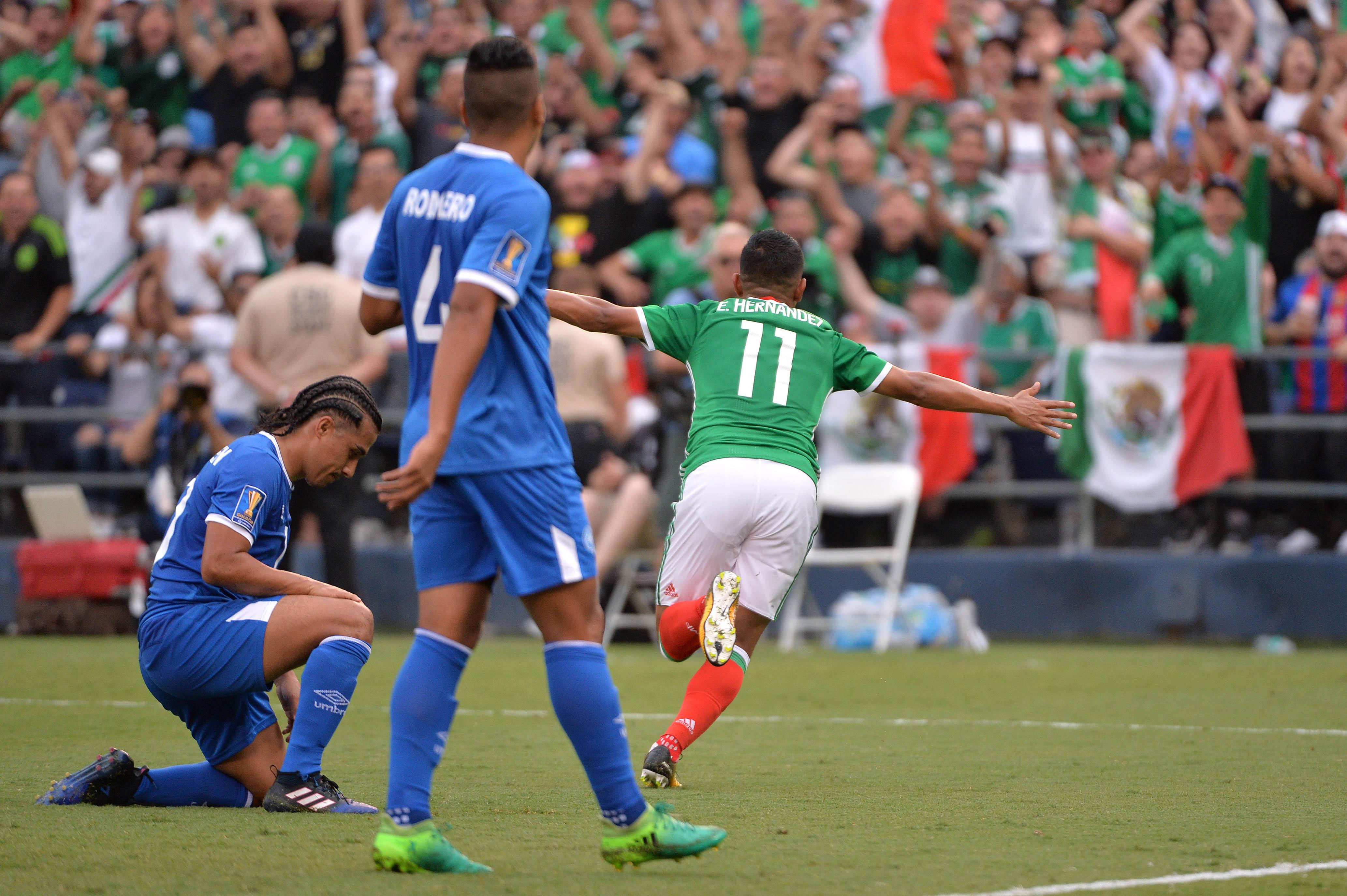 Soccer: 2017 CONCACAF Gold Cup-Mexico at El Salvador