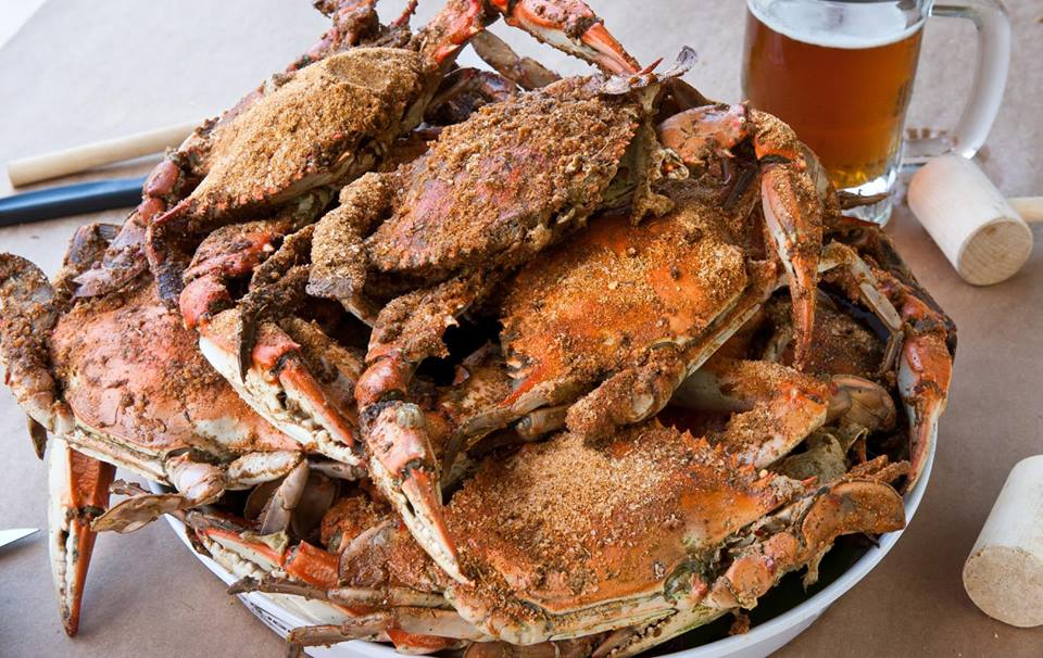 Spiced crabs from Bethesda Crab House.