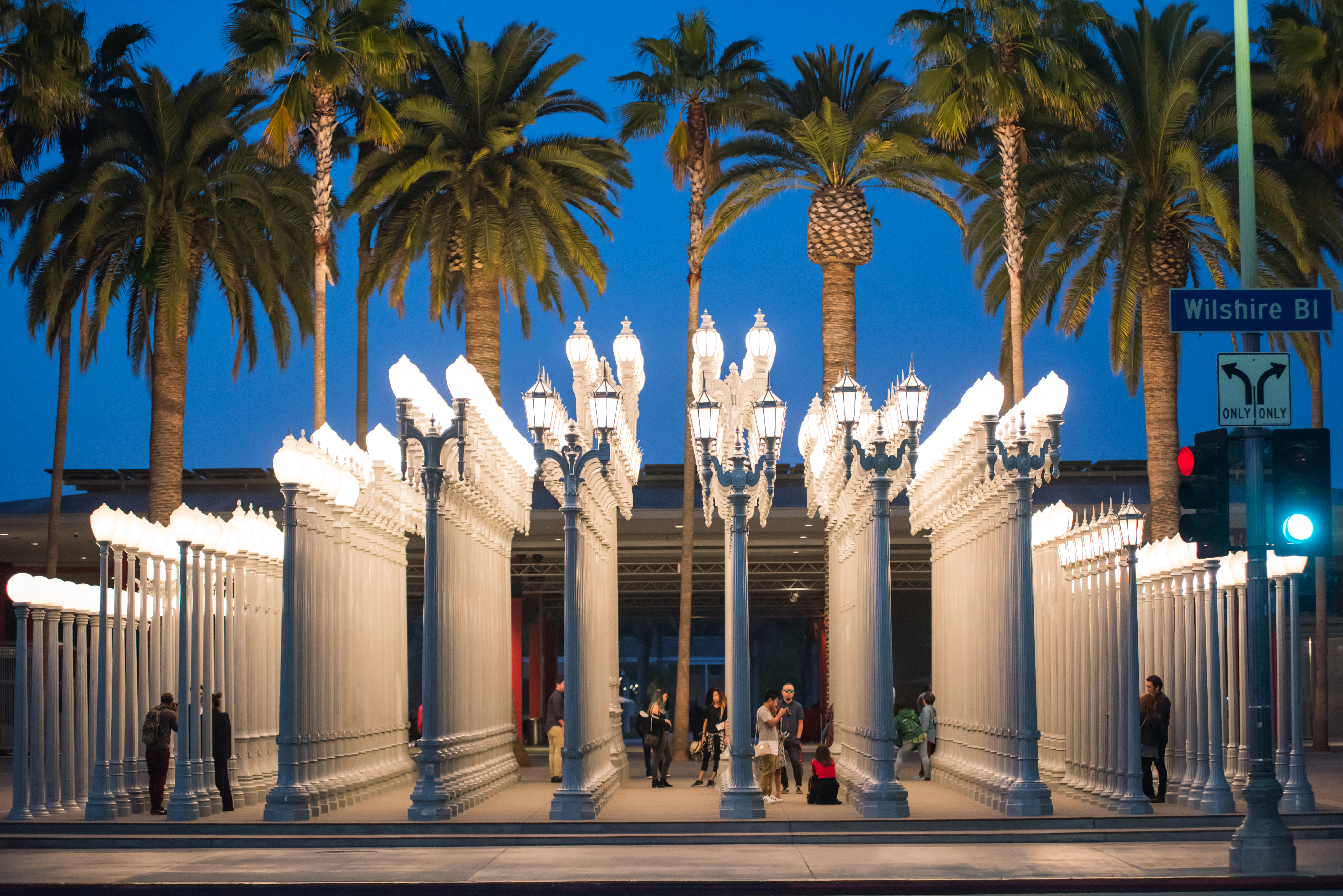 Urban Light is made up of 202 old lampposts, many of them from the 1920s and '30s collected from around Los Angeles.