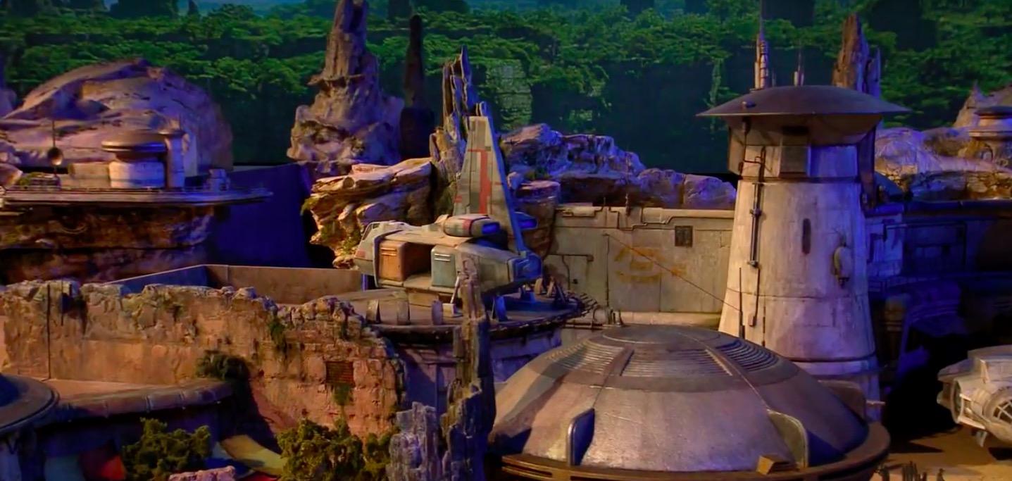 Scene from Star Wars Land