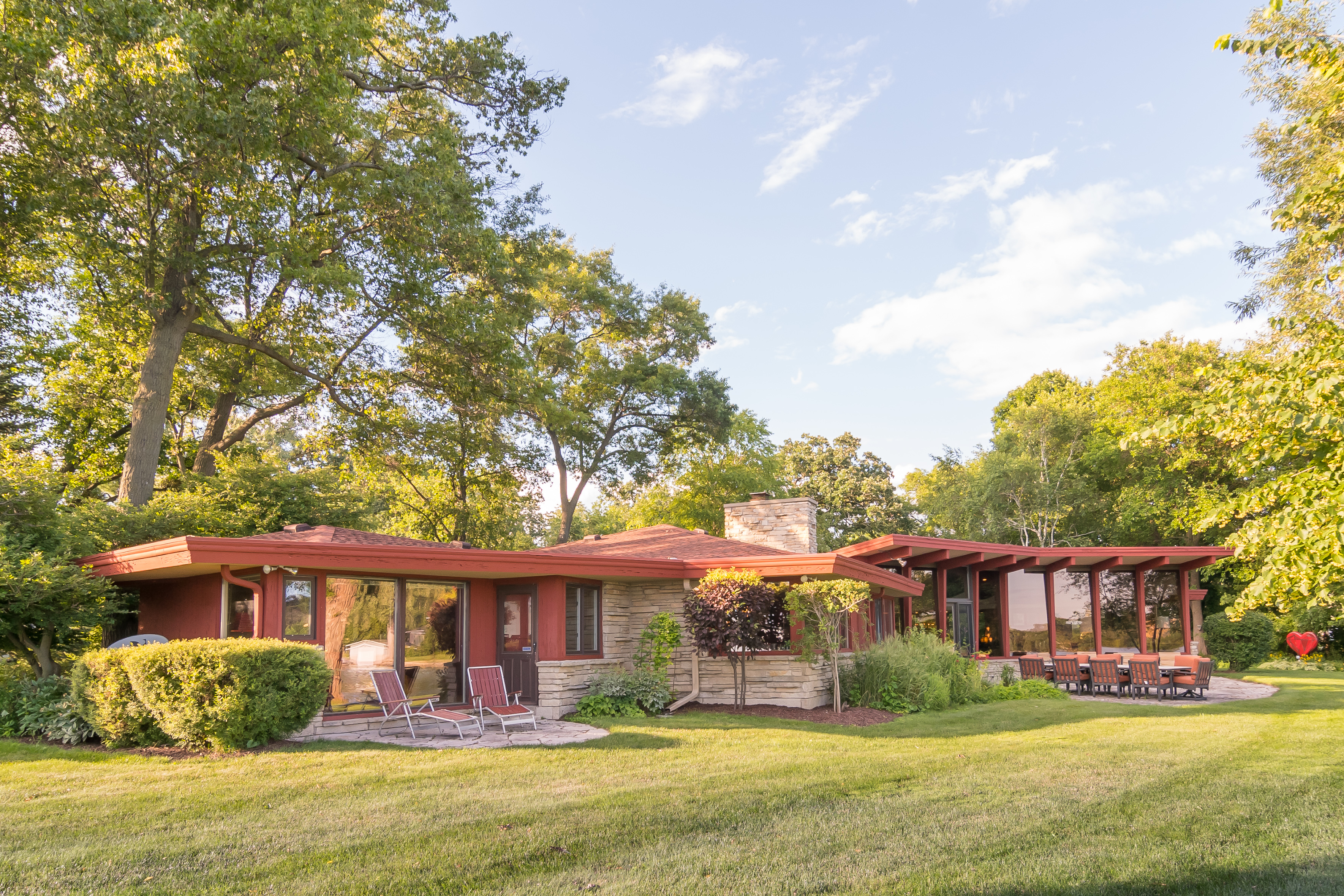 Midcentury lakefront house, beautifully restored, asks $475K